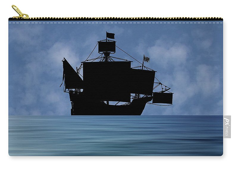 The Santa Maria Carry-all Pouch featuring the photograph The Santa Maria 1460 V1 by Smart Aviation