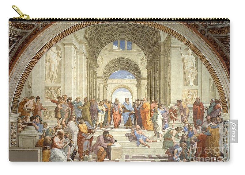 Science Carry-all Pouch featuring the photograph The School Of Athens, Raphael by Science Source