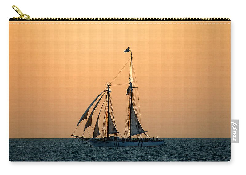 Boat Carry-all Pouch featuring the photograph The Schooner America by Susanne Van Hulst