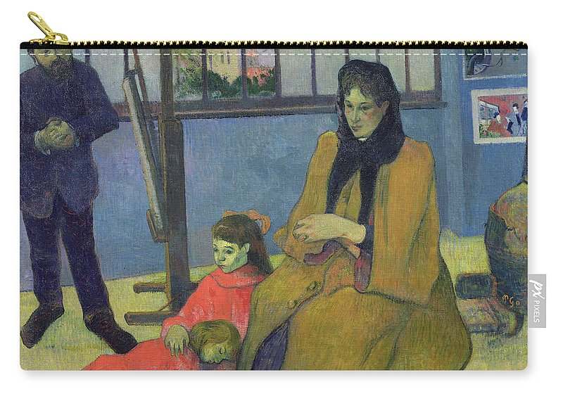 Portrait Carry-all Pouch featuring the painting The Schuffenecker Family by Paul Gauguin