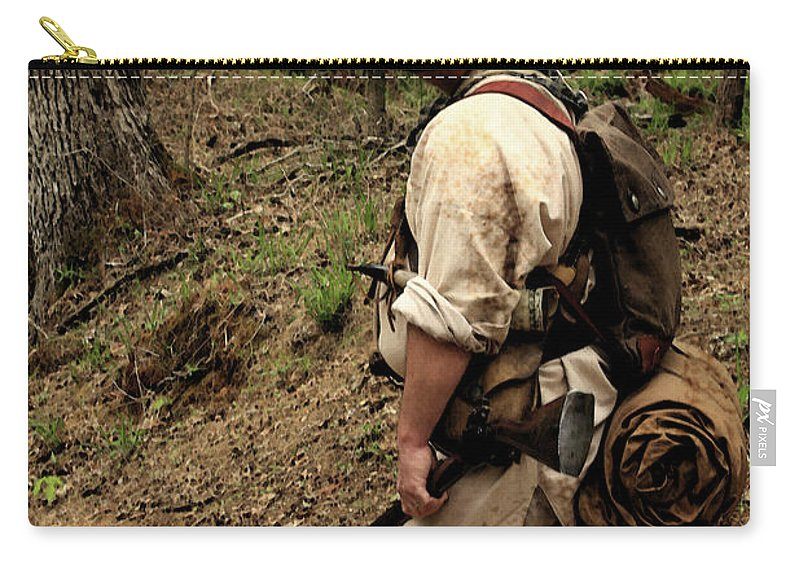 Reenactment Photographs Carry-all Pouch featuring the photograph The Scout3 by Kim Henderson