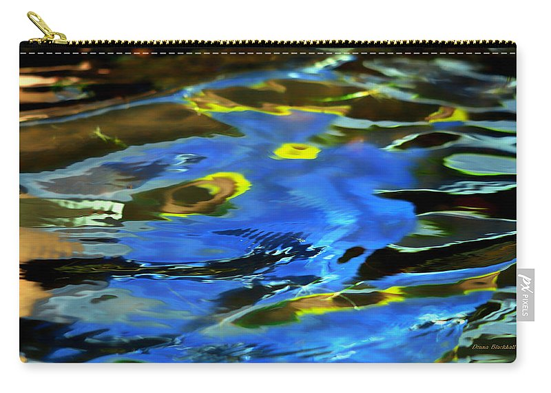 Abstract Water Carry-all Pouch featuring the photograph The Scream by Donna Blackhall