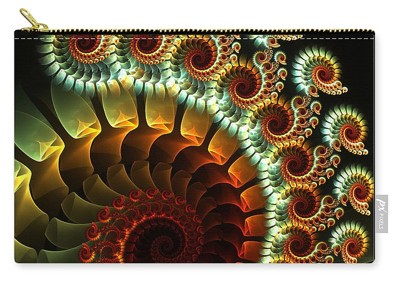Fractal Carry-all Pouch featuring the digital art The Seahorse Swing by Amorina Ashton