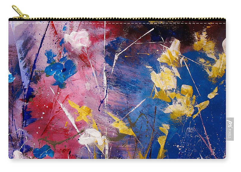 Acrylic Carry-all Pouch featuring the painting The Season Of Singing Has Come by Ruth Palmer