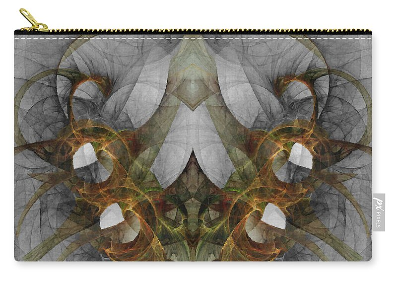 Abstract Carry-all Pouch featuring the digital art The Second Labor Of Herakles by NirvanaBlues
