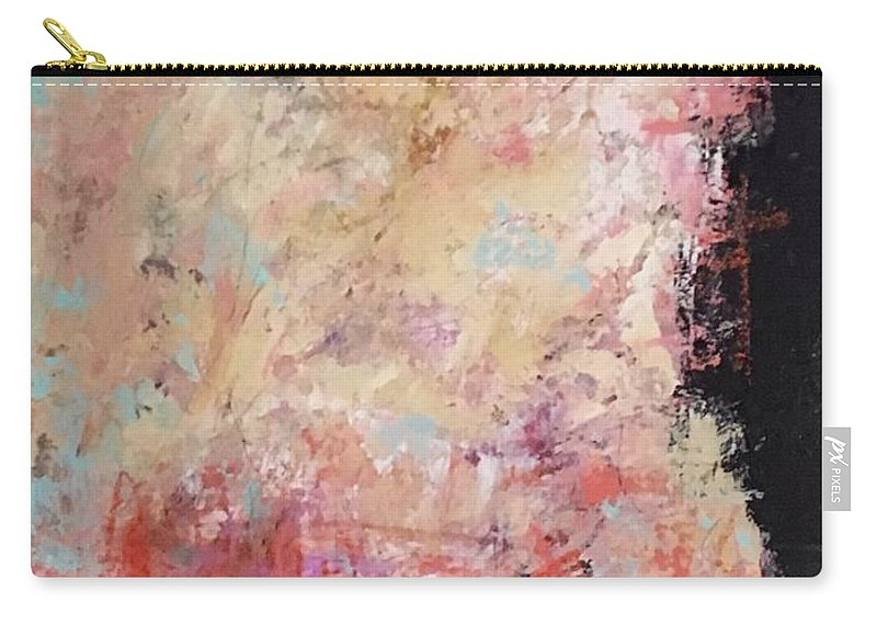Abstract Art Carry-all Pouch featuring the painting The Secret In Our Busy Lives by Suzzanna Frank