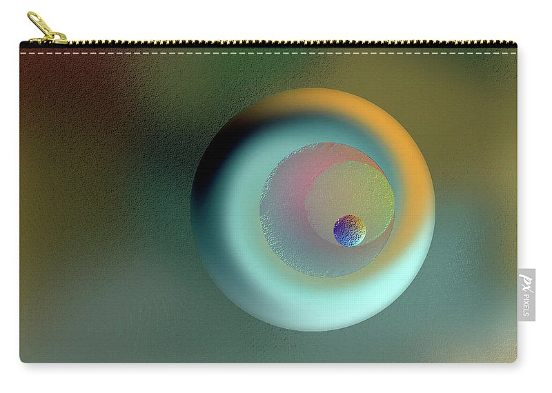 The Secret Carry-all Pouch featuring the digital art The Secret by Leo Symon