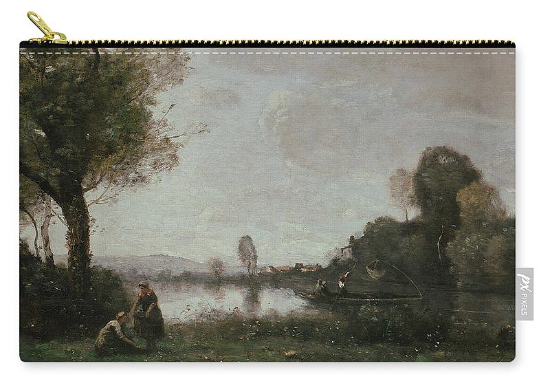 Jean-baptiste-camille Corot Carry-all Pouch featuring the painting The Seine At Chatou by Jean-Baptiste-Camille Corot