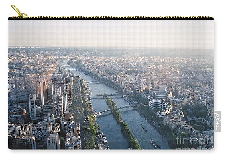 City Carry-all Pouch featuring the photograph The Seine River In Paris by Nadine Rippelmeyer