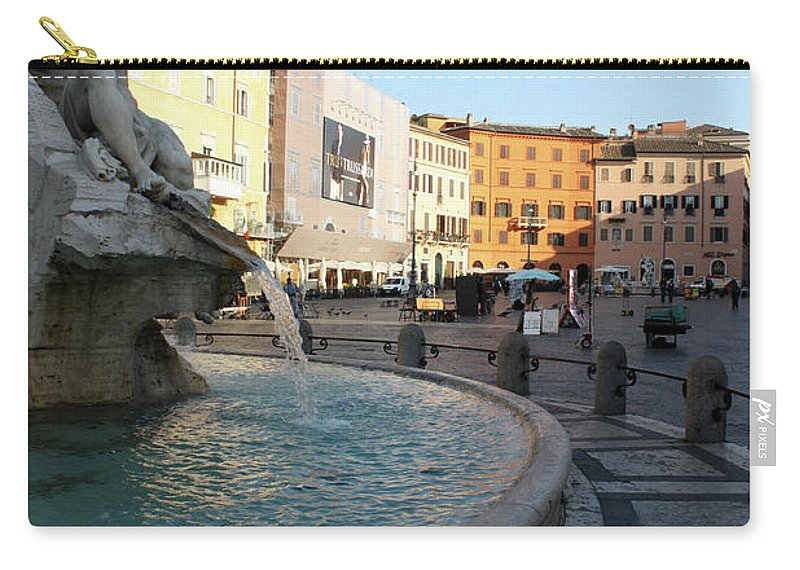 Piazza Navona Carry-all Pouch featuring the photograph The Shame by Munir Alawi