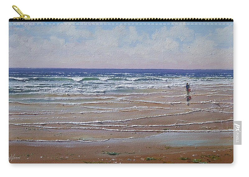 Seascape Carry-all Pouch featuring the painting The Shell Collector by Frank Wilson