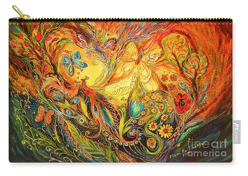Original Carry-all Pouch featuring the painting The Shining Of The Summer by Elena Kotliarker