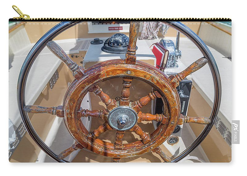 Ship's Carry-all Pouch featuring the photograph The Ship's Wheel by Betsy Knapp