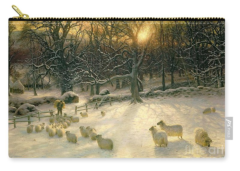 Winter Carry-all Pouch featuring the painting The Shortening Winters Day Is Near A Close by Joseph Farquharson
