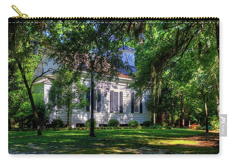 Church Carry-all Pouch featuring the photograph The Side Of A Small Church by TJ Baccari