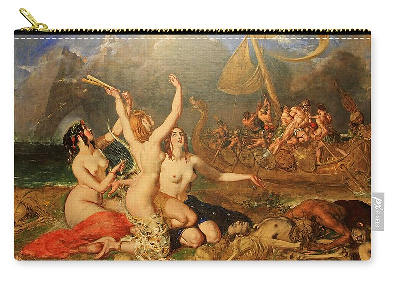 William Etty Carry-all Pouch featuring the painting The Sirens And Ulysses by William Etty