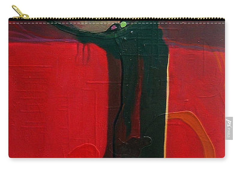 Abstract Carry-all Pouch featuring the painting The Skinny by Marlene Burns