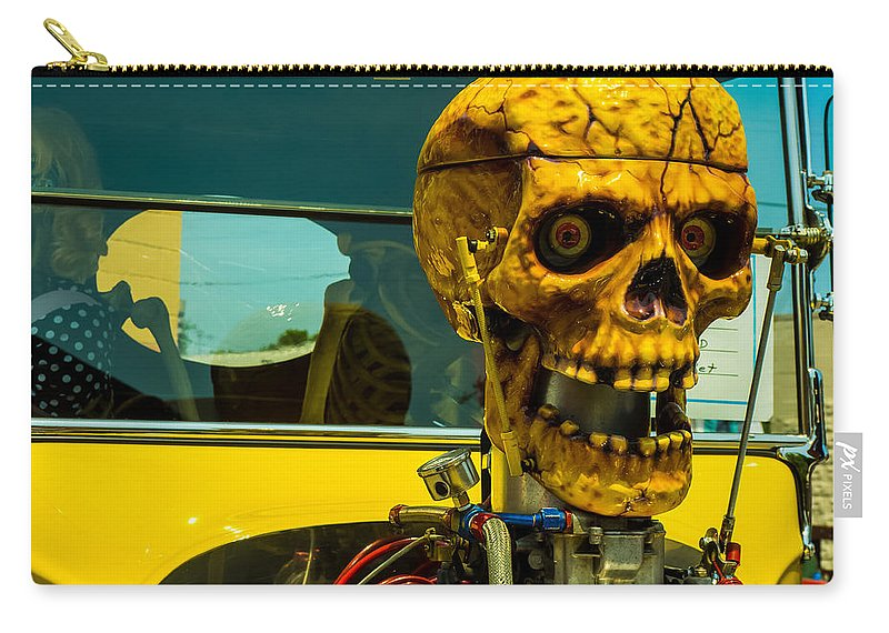 Oddities Carry-all Pouch featuring the photograph The Skull by Michael Colgate