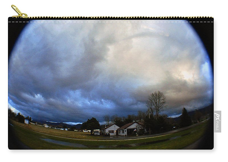 Clay Carry-all Pouch featuring the photograph The Sky Is Falling by Clayton Bruster