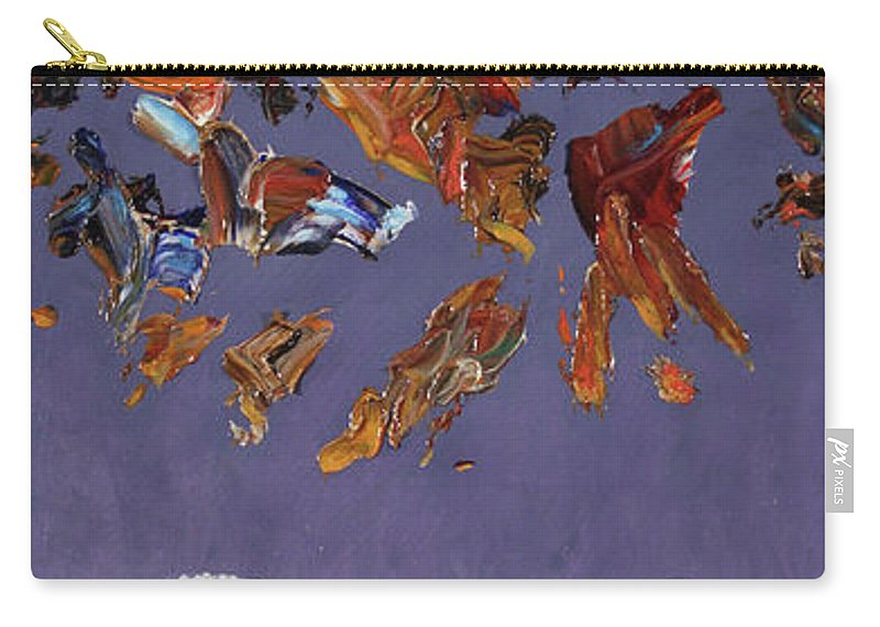 Chicken Little Carry-all Pouch featuring the painting The Sky Is Falling by James W Johnson