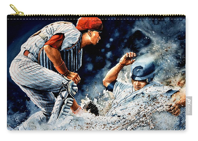 Sports Art Carry-all Pouch featuring the painting The Slide by Hanne Lore Koehler
