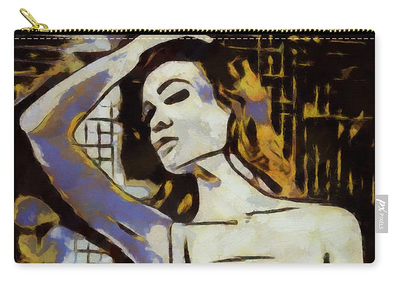 Person Carry-all Pouch featuring the painting The Slip by WD Mancini
