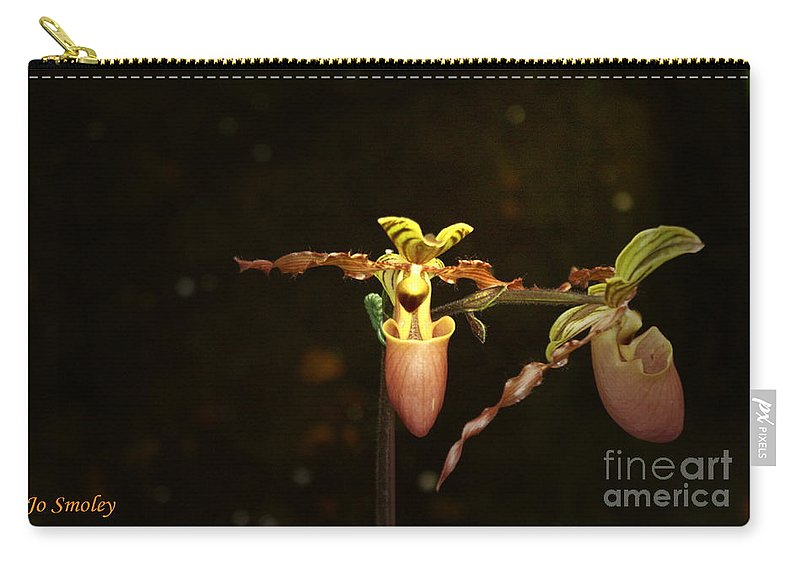Lady Slipper Orchids Carry-all Pouch featuring the photograph The Slippers by Joanne Smoley