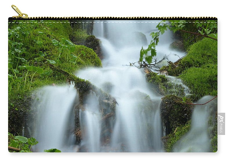 Water Carry-all Pouch featuring the photograph The Slithering Mist by DeeLon Merritt