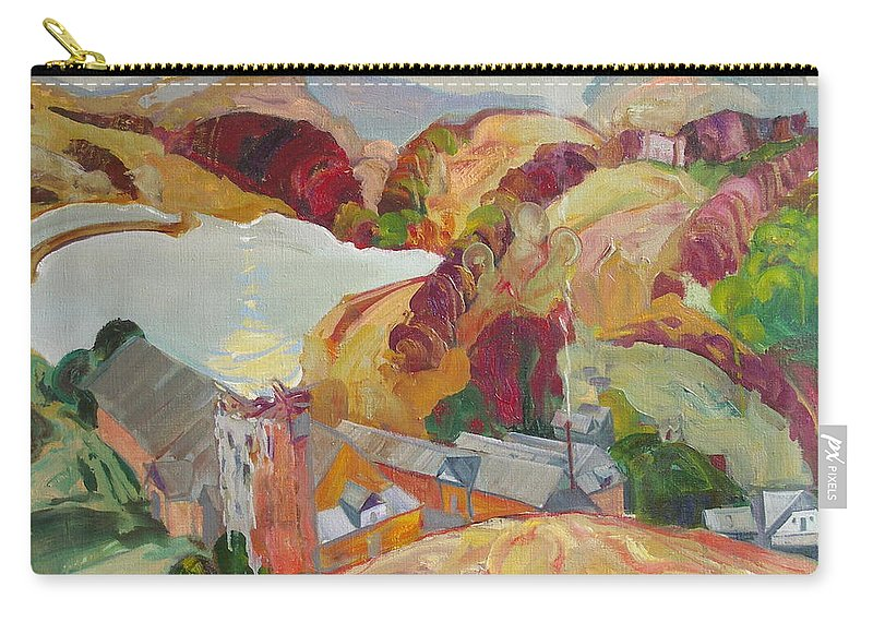 Oil Carry-all Pouch featuring the painting The Slovechansk Edge by Sergey Ignatenko