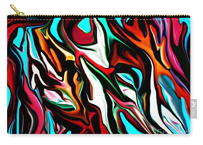 Abstract Carry-all Pouch featuring the digital art The Smearing Of The Paint 7-02-09 by David Lane