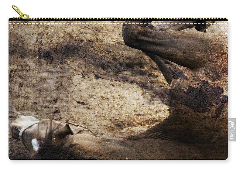 Horse Carry-all Pouch featuring the photograph The Smell Of The Soil by Angel Ciesniarska