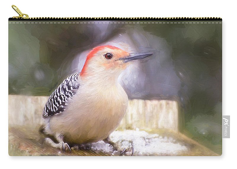 Woodpecker Carry-all Pouch featuring the photograph The Smiling Woodpecker by Kerri Farley