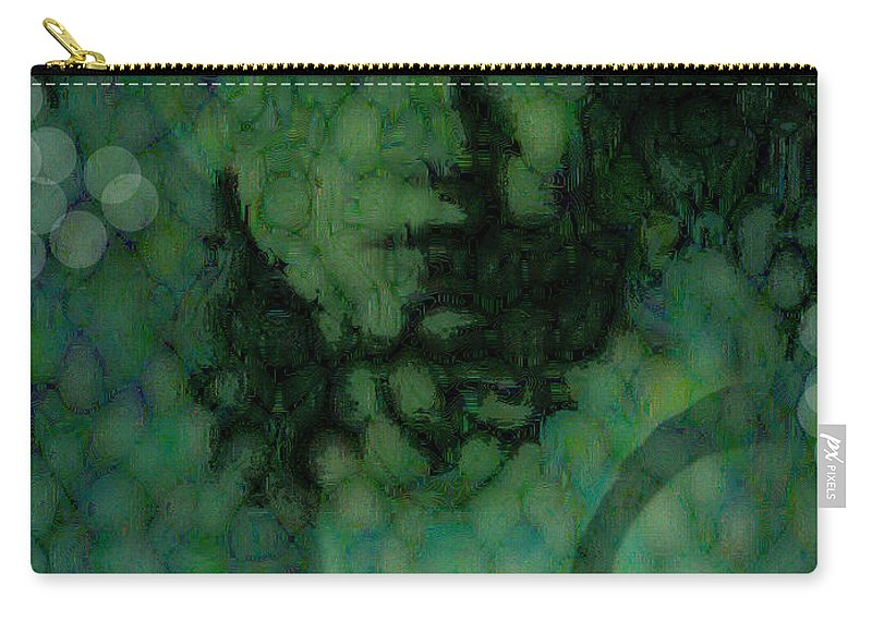 Bizarre Carry-all Pouch featuring the digital art The Snake Lady by Seth Weaver