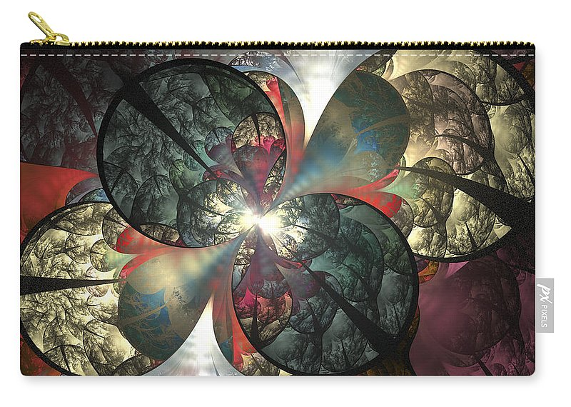 Fractal Carry-all Pouch featuring the digital art The Soft Touch by Amorina Ashton
