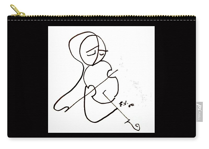 Violinist Carry-all Pouch featuring the photograph The Soloist by Emanuel Vardi