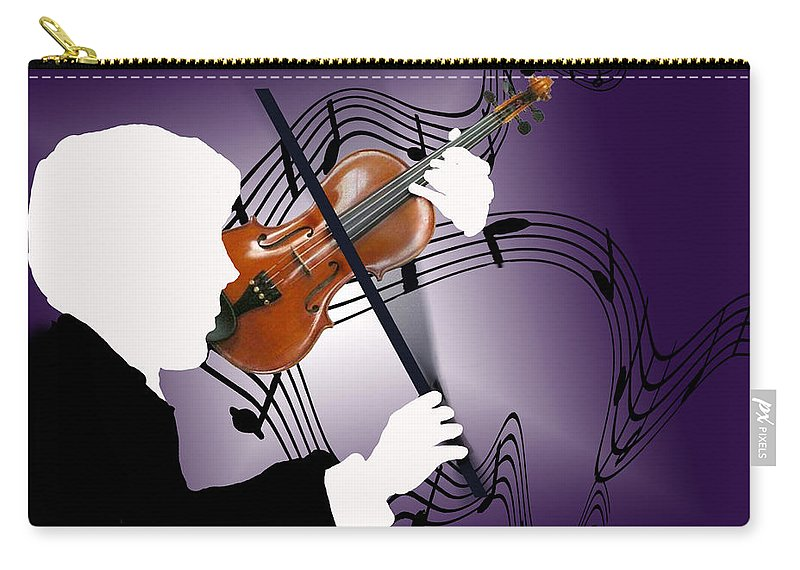 Violin Carry-all Pouch featuring the digital art The Soloist by Steve Karol