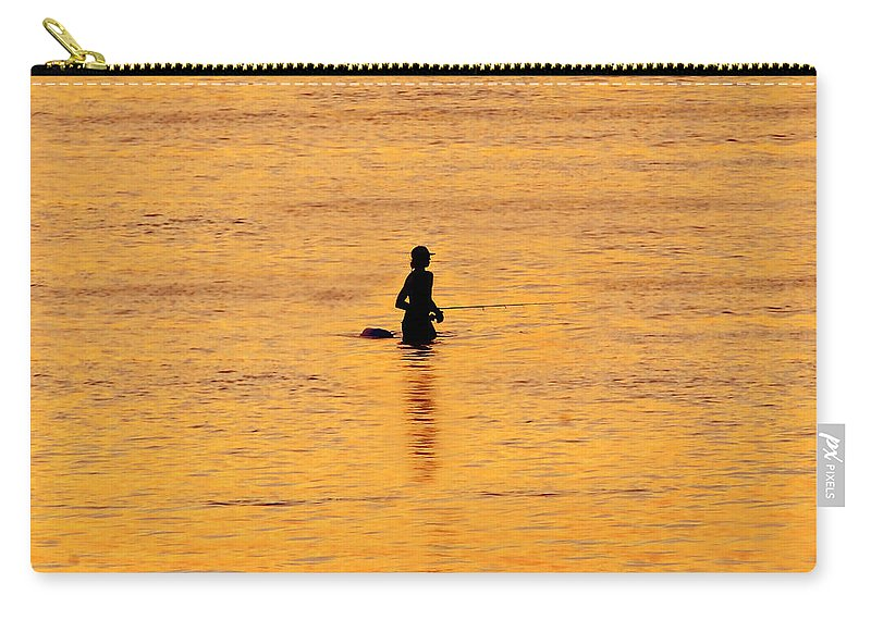 Fishing Carry-all Pouch featuring the photograph The Son Of A Fisherman by David Lee Thompson