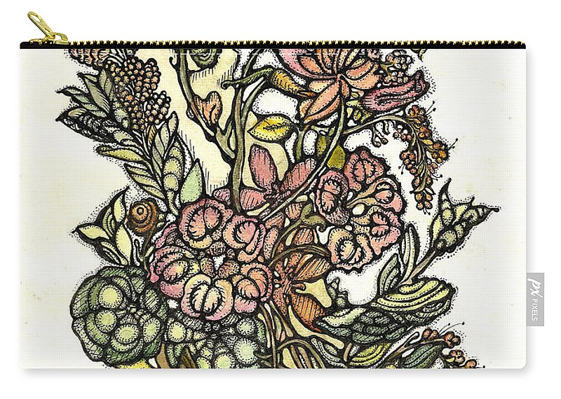 Paper Carry-all Pouch featuring the painting The Soul Of Wildflowers by Tais Karelina