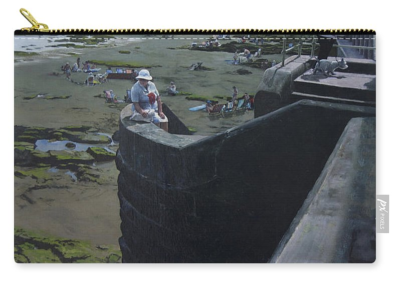 Britain Carry-all Pouch featuring the painting The South Bay In Scarborough. by Harry Robertson