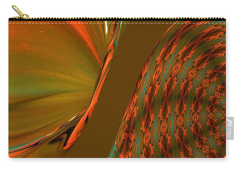 Abstract Carry-all Pouch featuring the photograph The Space Between Two Forces Abstract by Jeff Swan