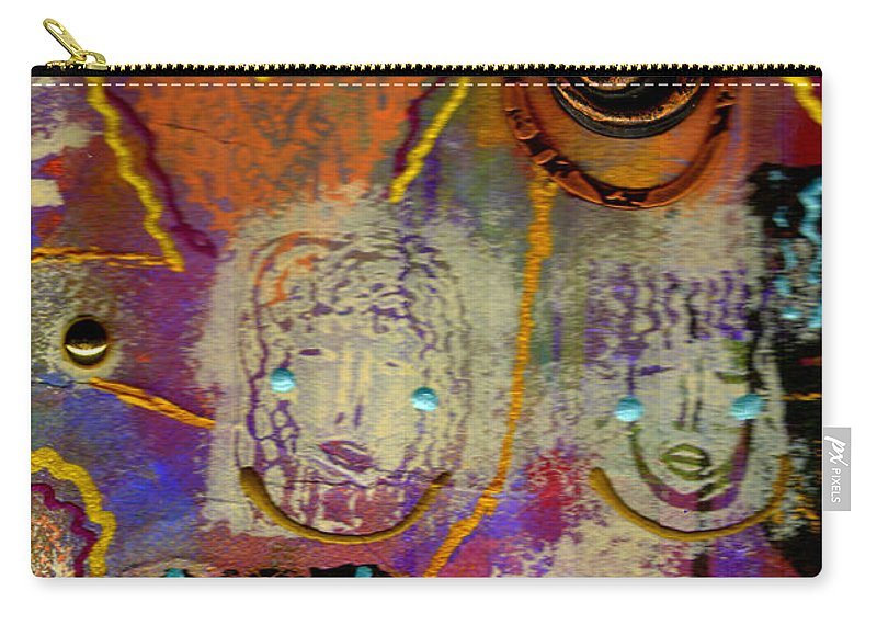 Clay Carry-all Pouch featuring the mixed media The Spiral Of Life by Angela L Walker