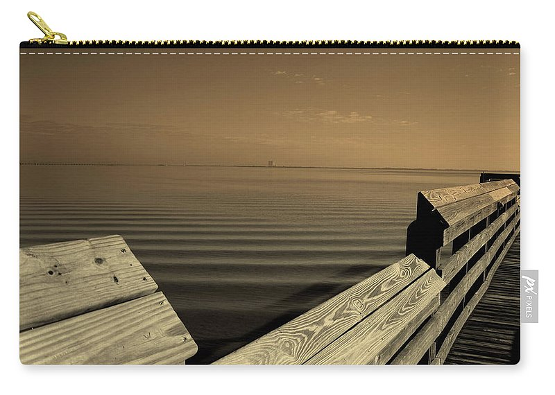 Pier Carry-all Pouch featuring the photograph The Spot by Susanne Van Hulst