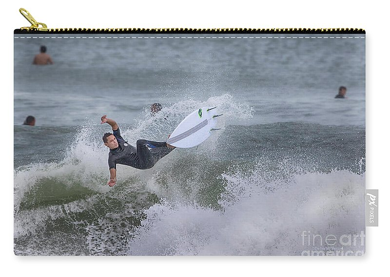 Surfer Carry-all Pouch featuring the photograph The Spray by Deborah Benoit