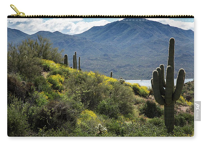Arizona Carry-all Pouch featuring the photograph The Spring Show by Cathy Franklin