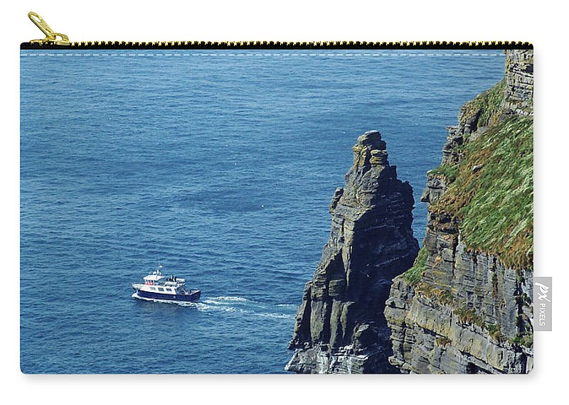Irish Carry-all Pouch featuring the photograph The Stack And The Jack B Cliffs Of Moher Ireland by Teresa Mucha