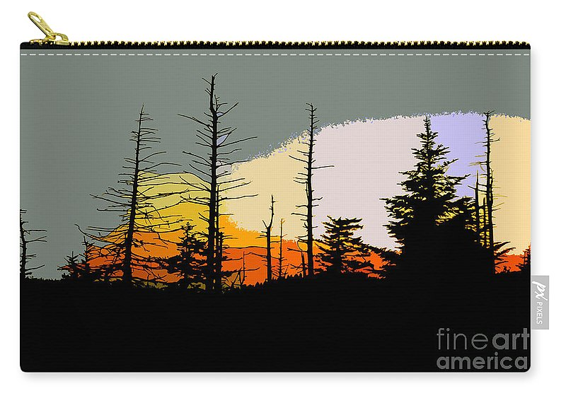 Forest Carry-all Pouch featuring the painting The Stained Glass Forest by David Lee Thompson