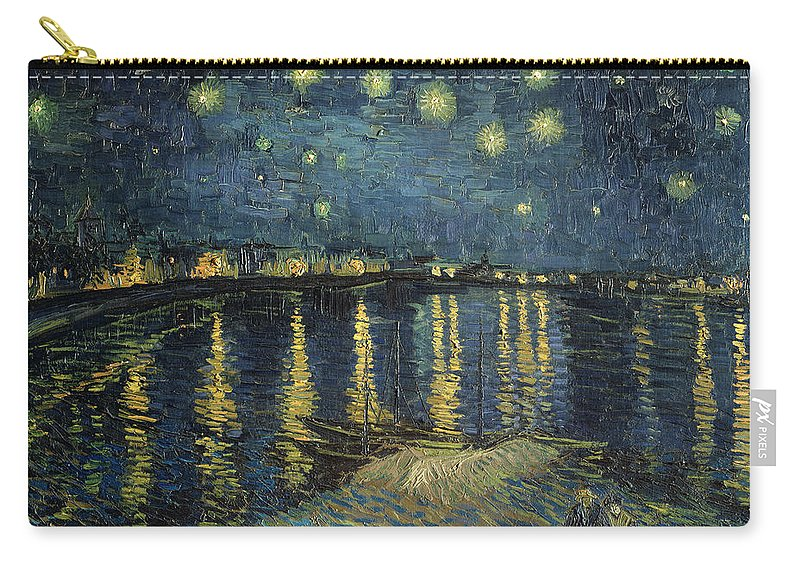 The Carry-all Pouch featuring the painting The Starry Night by Vincent Van Gogh