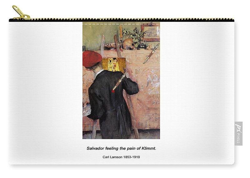 Altered Art Carry-all Pouch featuring the digital art The Still-life Painter by John Saunders