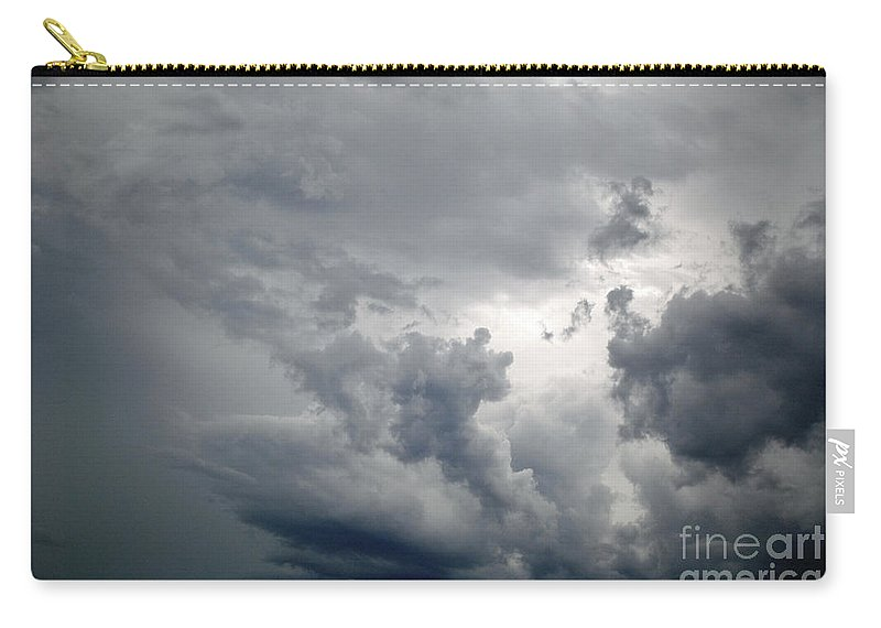 Clouds Carry-all Pouch featuring the photograph The Storm by Jost Houk