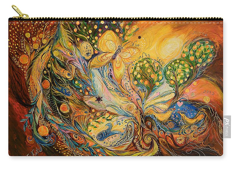 Original Carry-all Pouch featuring the painting The Story Of The Orange Garden by Elena Kotliarker